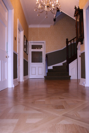 Hackfort Design Parquet Design in Oak from one of Wood You Like's clients