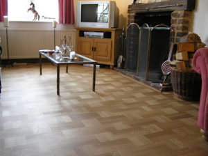 Oak Basket weave in modern bungalow